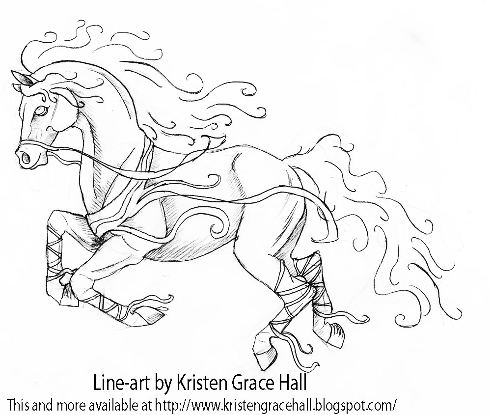 free coloring pages flying horses - photo#18
