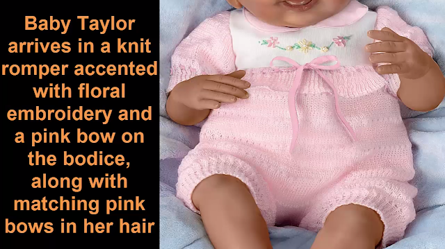 So Truly Real Interactive Baby Doll Taylors Ticklish Tootsies by Ashton Drake Realistic Dolls Baby