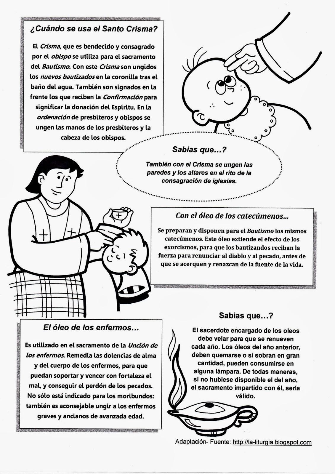 La Catequesis (El blog de Sandra): Recursos Catequesis Santos Óleos