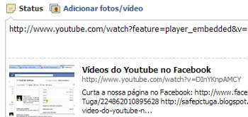 Colocar vídeo do youtube no facebook