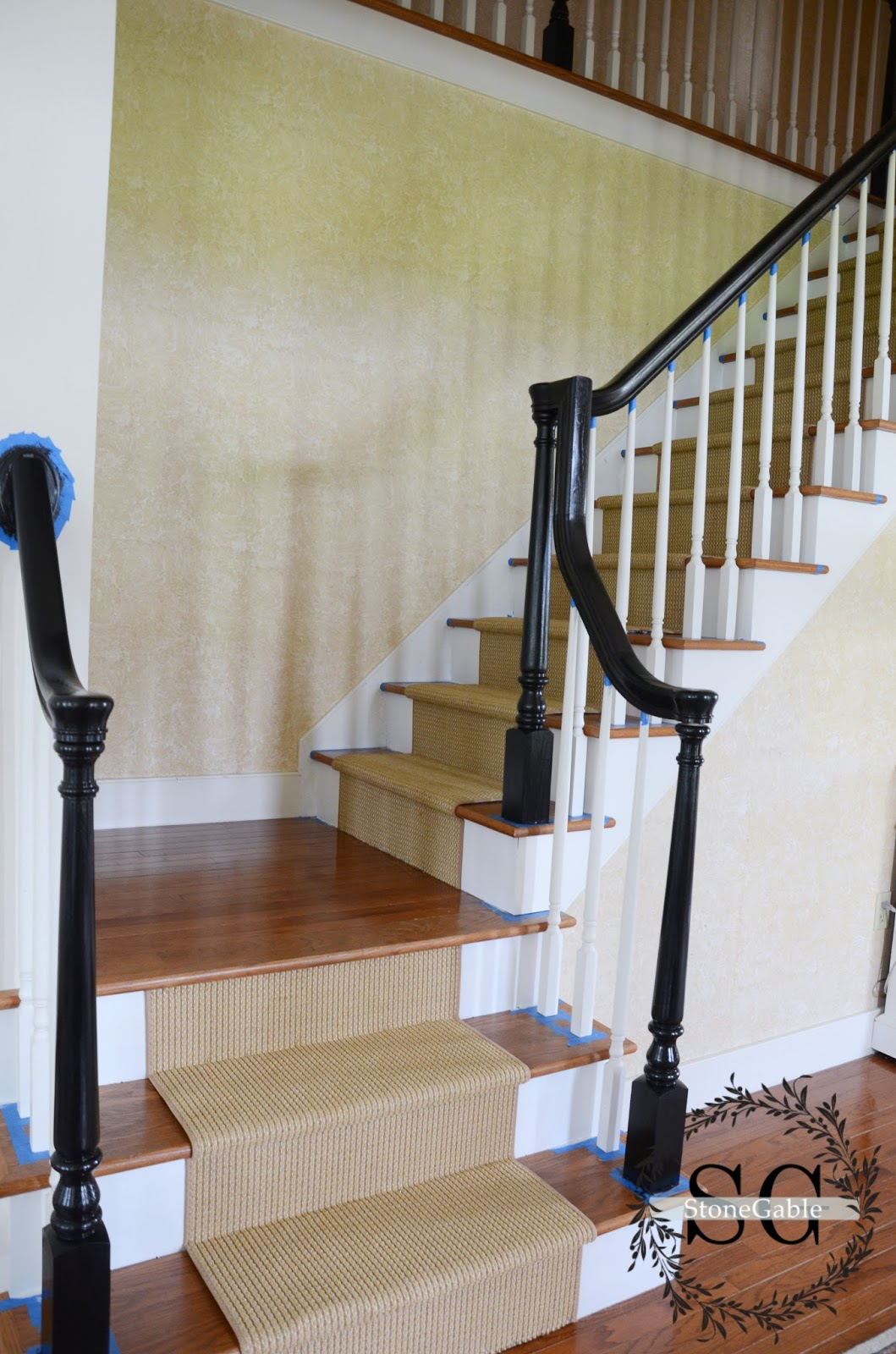 Beau STAIR MAKEOVER ADDING A NATURAL LOOKING RUNNER StoneGable