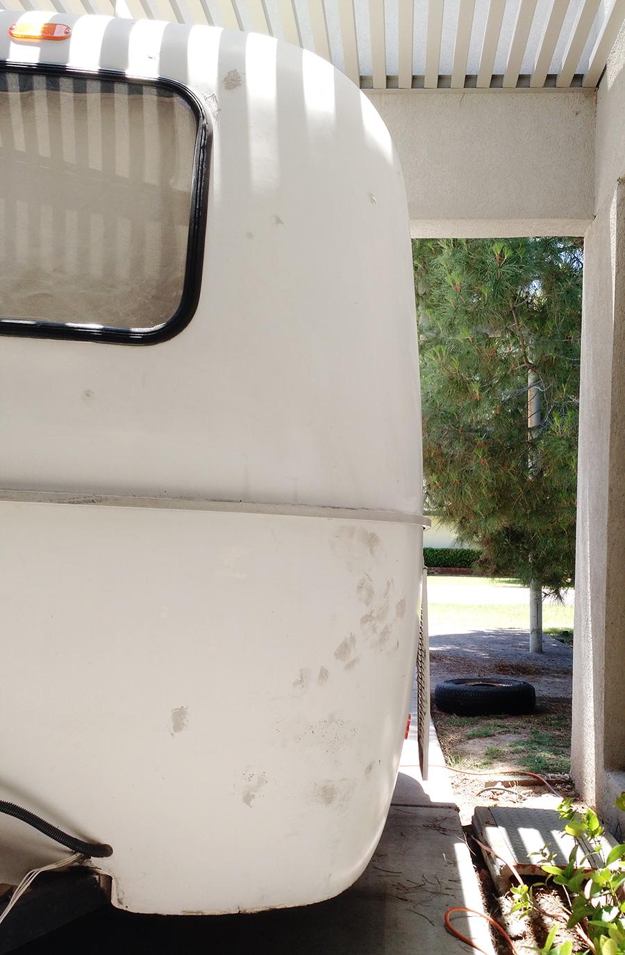 Fiberglass RV Scamp Remodel - littleladylittlecity.com