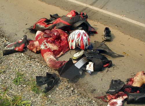 foto de accidente y muerto: