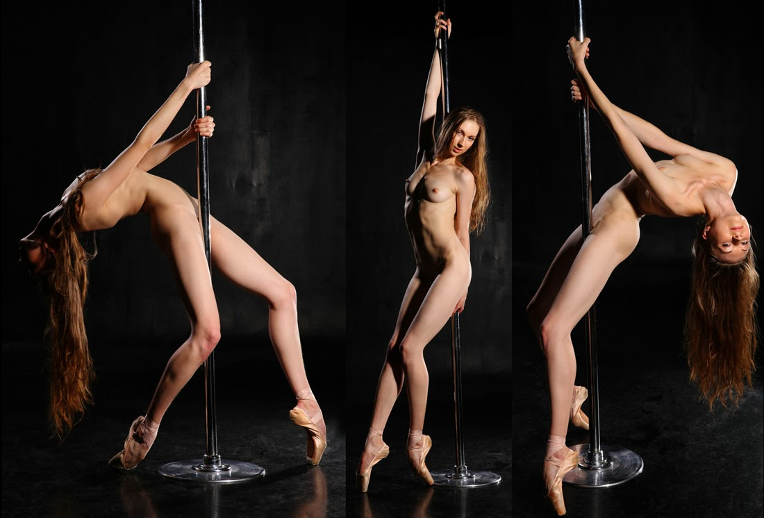 sexy pose nude with pole