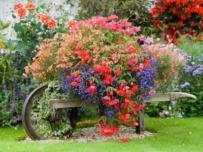 Primavera Carreta Flores