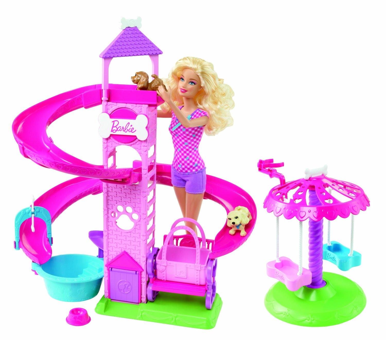Barbie i plac zabaw dla piesków