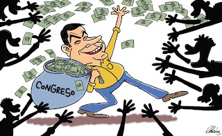 Congress raining money