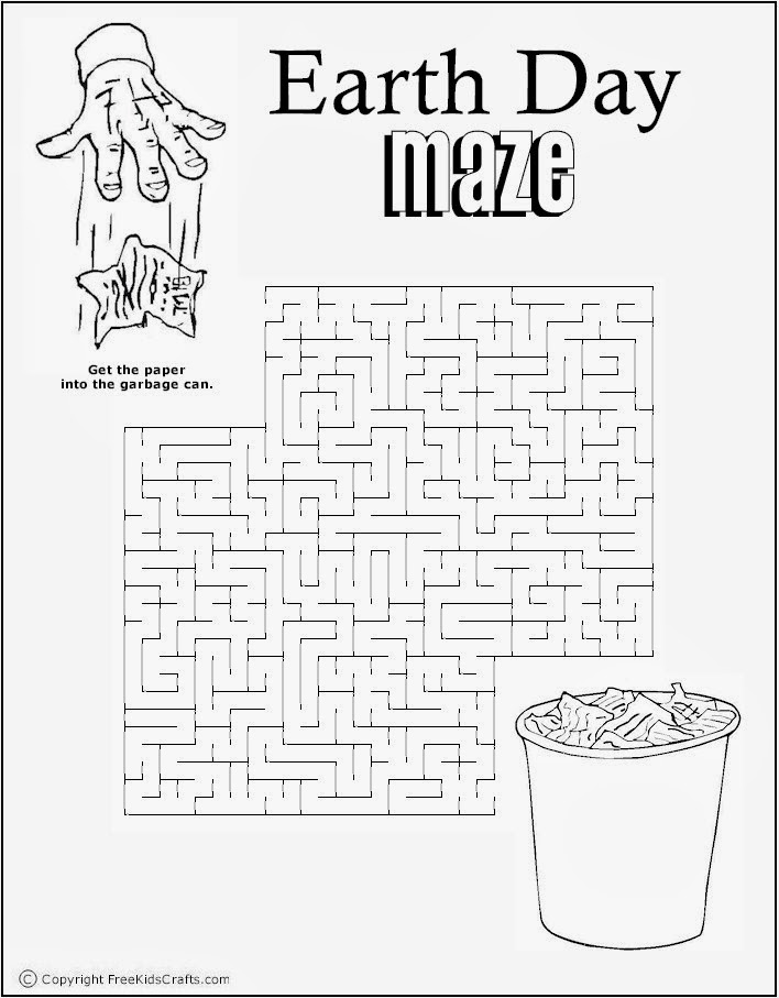 Earth Day Maze 3