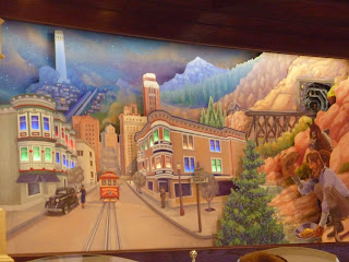 Disney eats pacific wharf ghirardelli soda fountain and shop for Disneyland wall mural