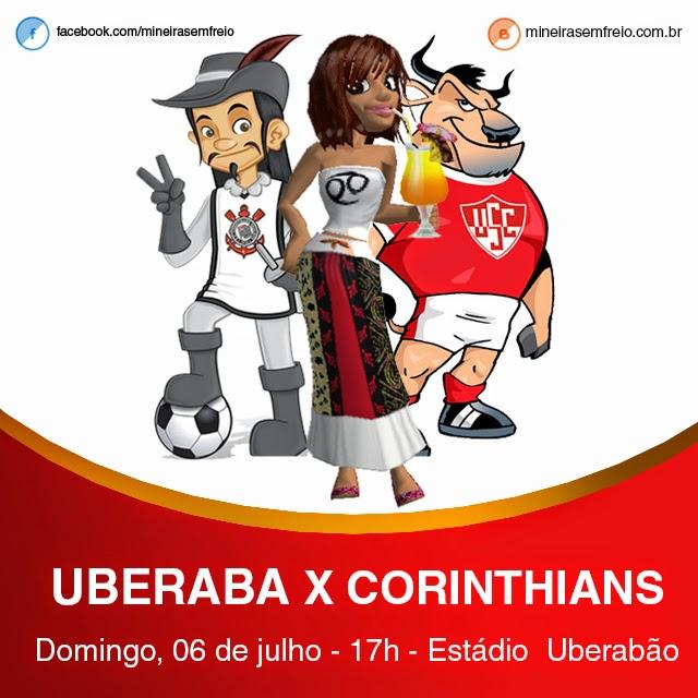 06 de julho, jogo entre Uberaba e Corinthians em Uberaba, Minas Gerais