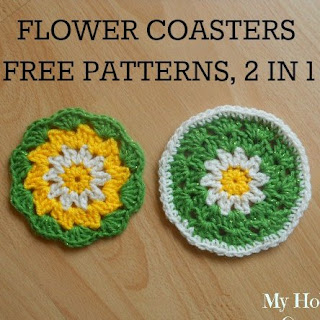 Crochet Daisy/Flower Coaster