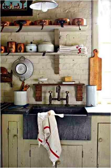Rustykalne wnętrze kuchni