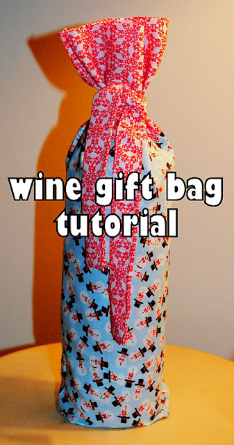 how to make a wine gift bag from mommy is coocoo