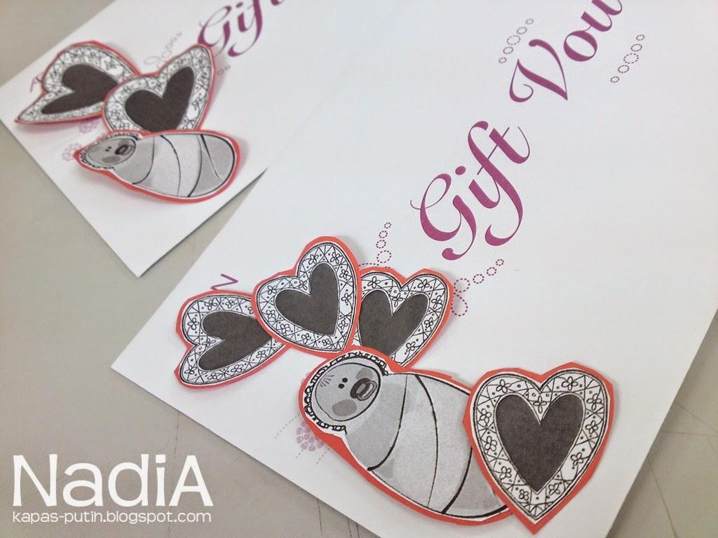 Deco gambar baby dan love atas envelope