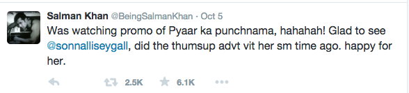 Salman Khan roots for Sonnalli Seygall