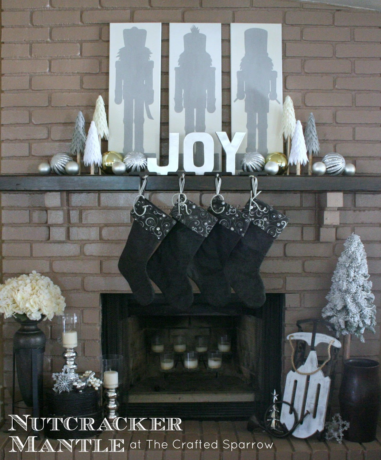 How to make a nutcracker christmas decoration - Nutcracker Christmas Mantle