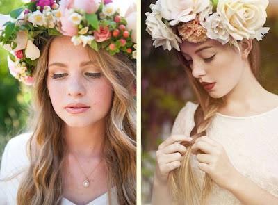 Moda Las coronas de flores siguen vigentes