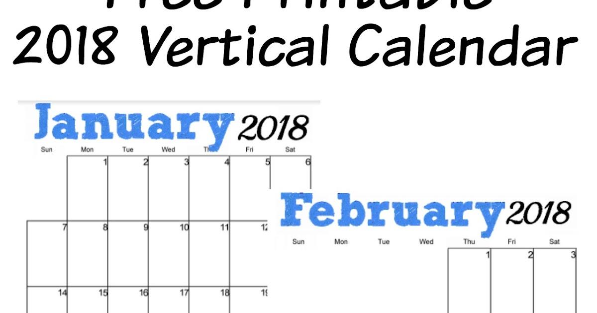 Musings of an Average Mom: 2018 Blue Vertical Calendar