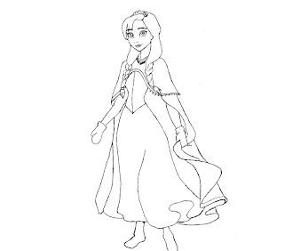 #2 Disney Frozen Coloring Page