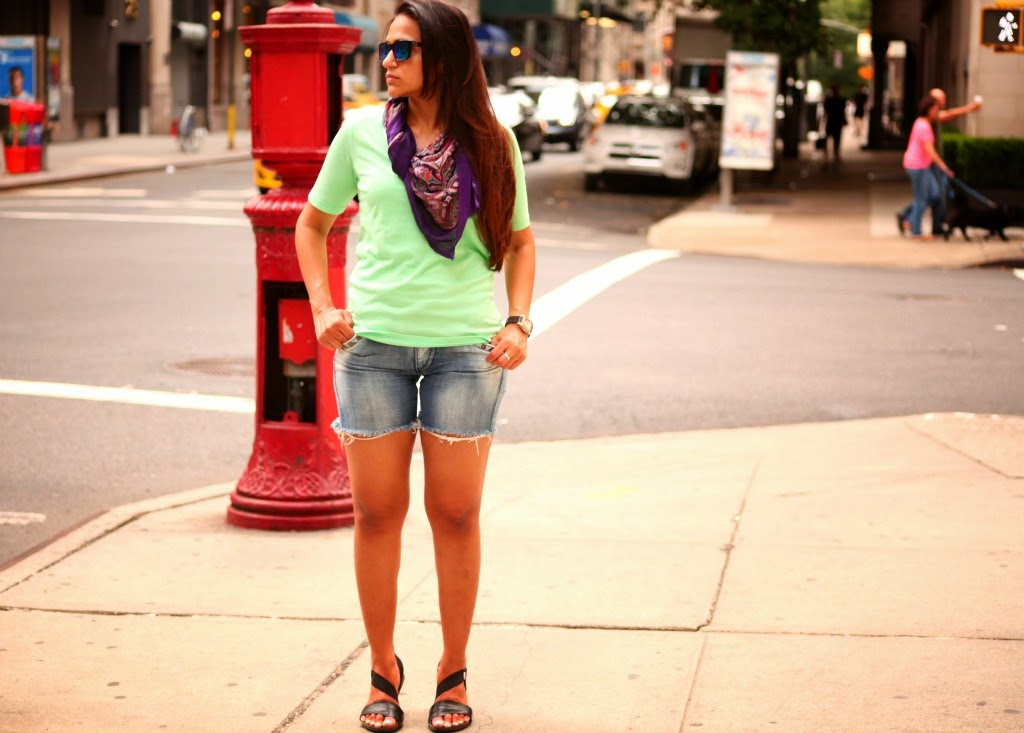 Tanvii.com, Denim Cut Offs, New York City Street Style