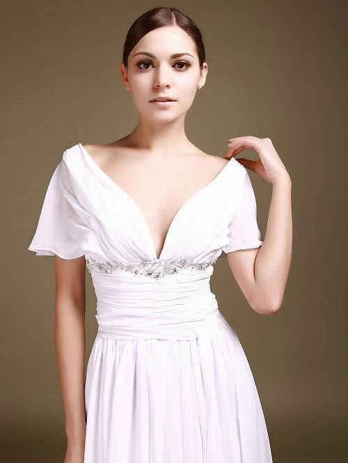 Chiffon Wedding Dresses with Beading Design photos
