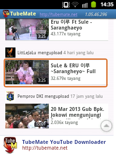 Download Video Youtube di Android 2