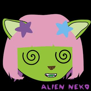 confused Alien neko emoji