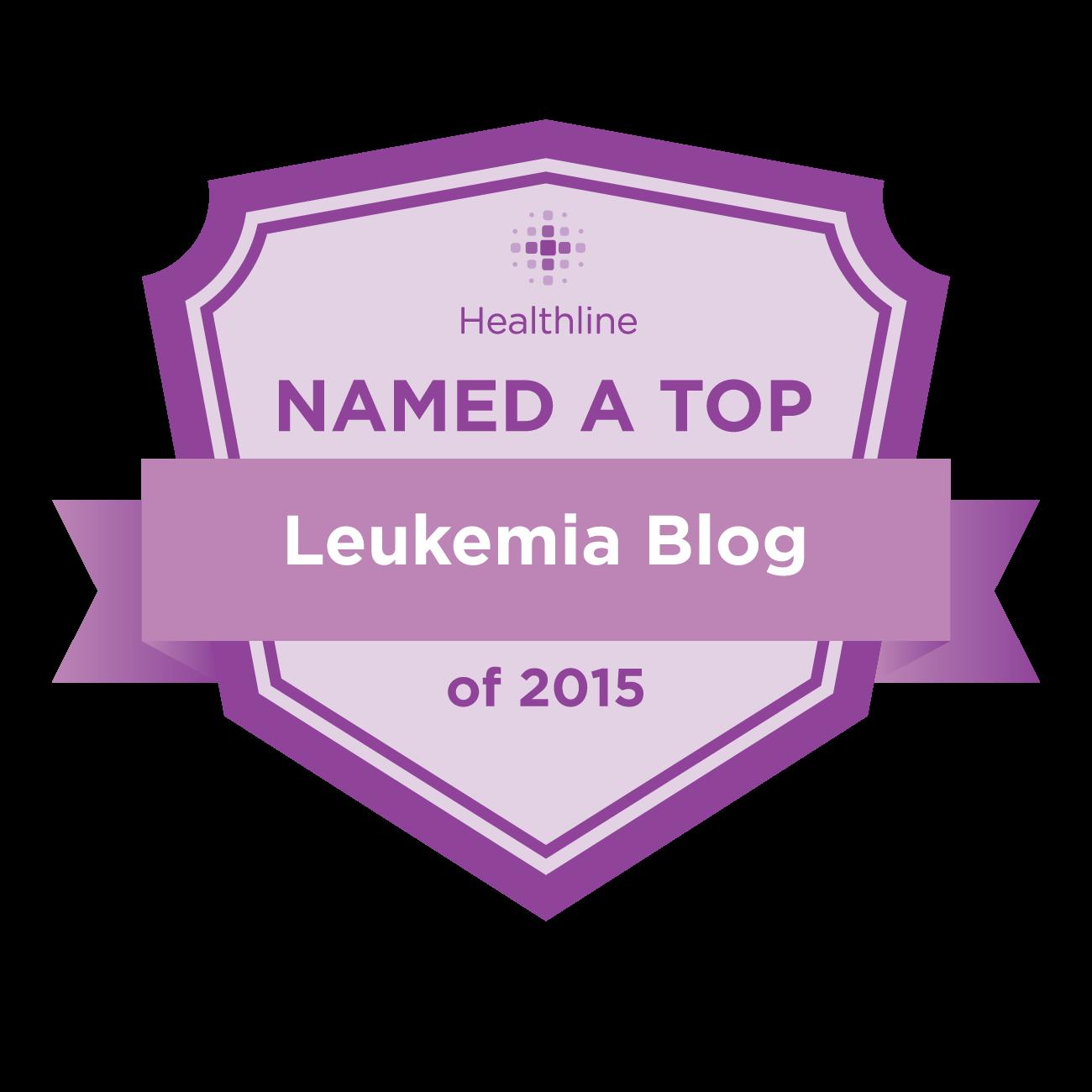 Healthline named this a top Leukemia Blog!