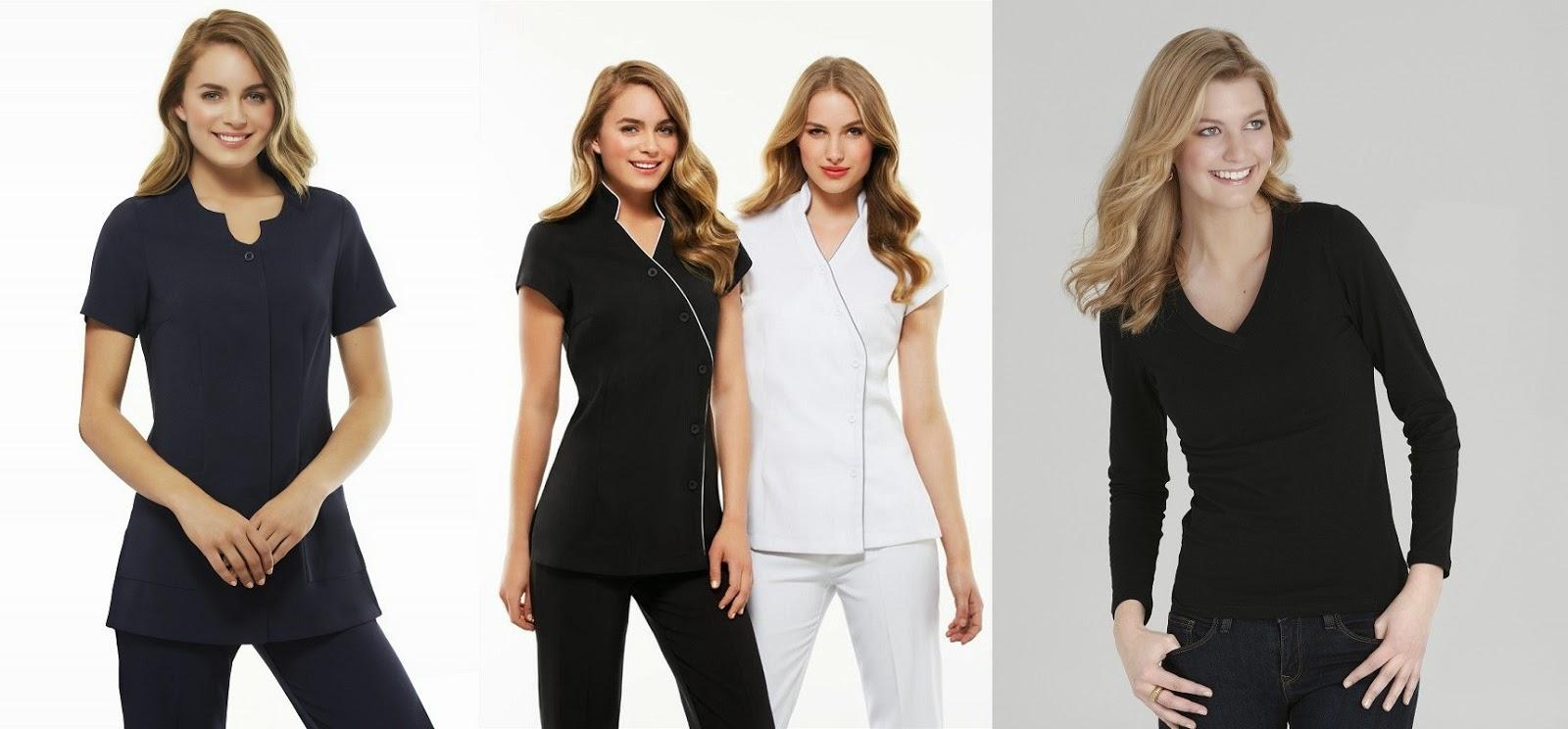 Beautician uniforms buy beautician uniforms in perth for Spa employee uniform