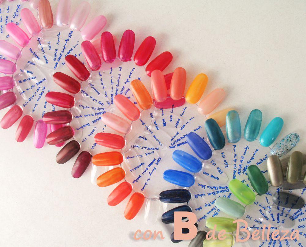 Ruedas transparentes práctica nail art