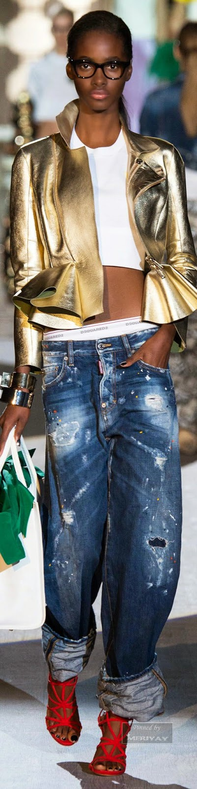 Tendências moda primavera-verão 2015 brilhos e metalizados