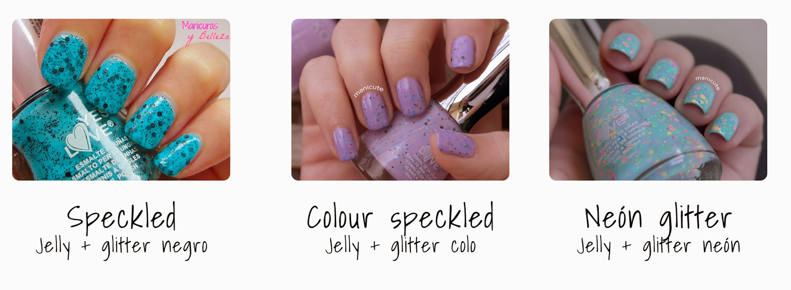 Yes Love glitter neon