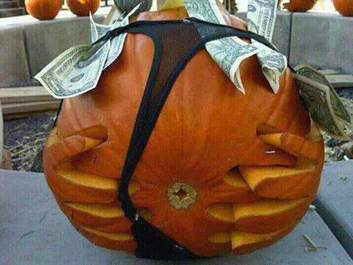 Stripper Thong Pumpkin