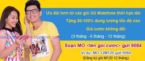 Các gói cước 3G thời hạn dài của Mobifone