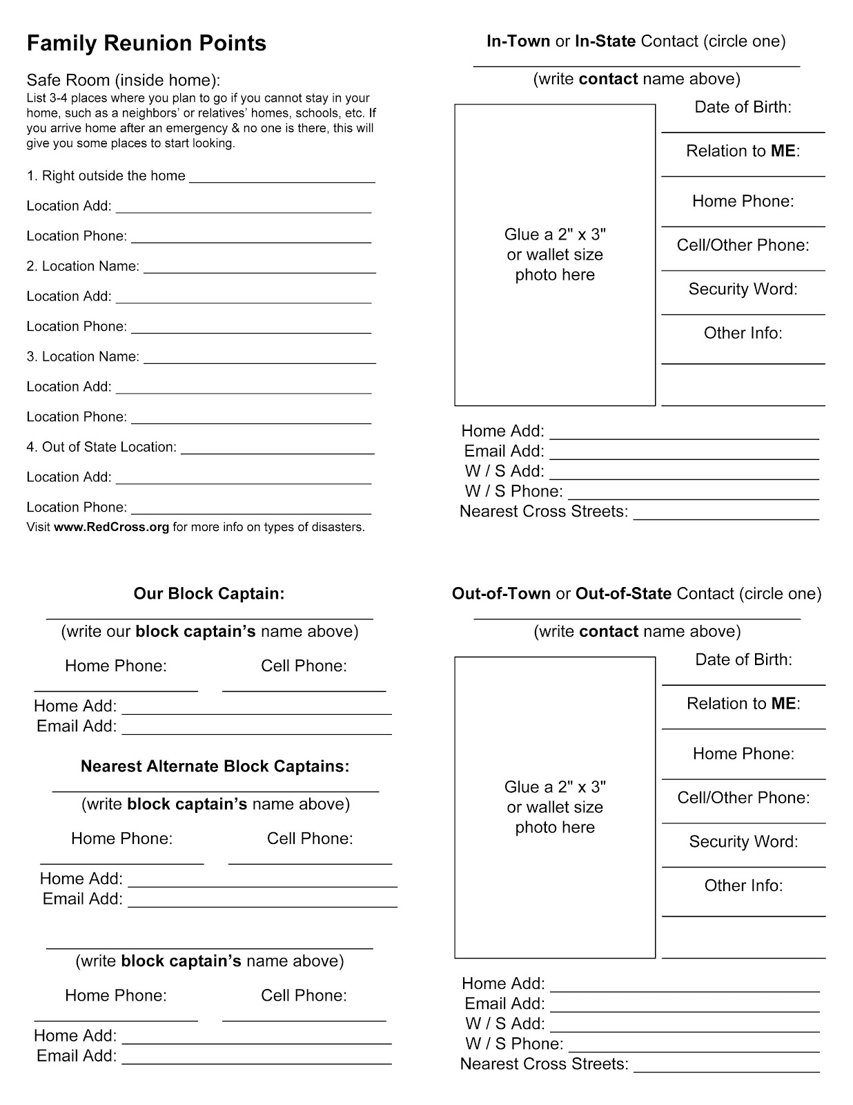 EMERGENCY COMMUNICATIONFamily Emergency Plan Template