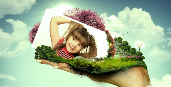VideoHive World On Hands