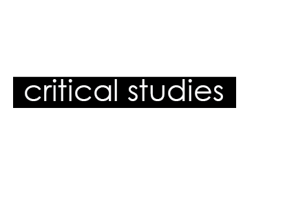 Critical and theoretical studies