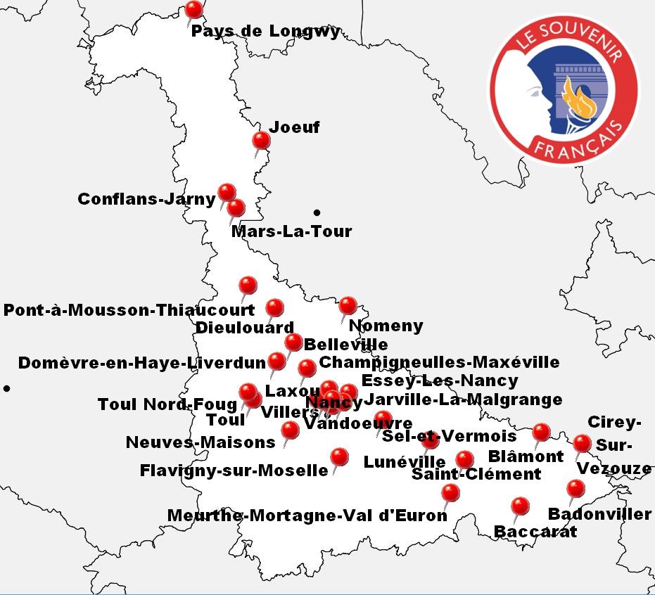 Carte des Comités Locaux