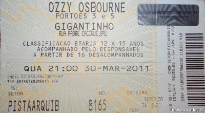 entrada concierto de ozzy osbourne
