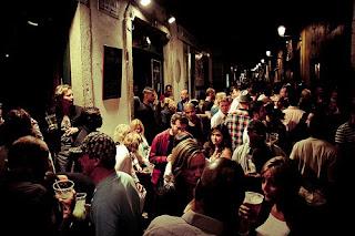 bairro alto, night, crowd