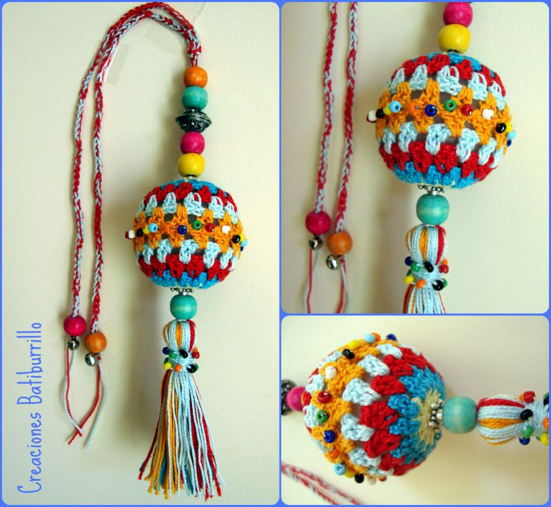 Creaciones batiburrillo colgador crochet para puerta o bolso - Adornos para puertas ...