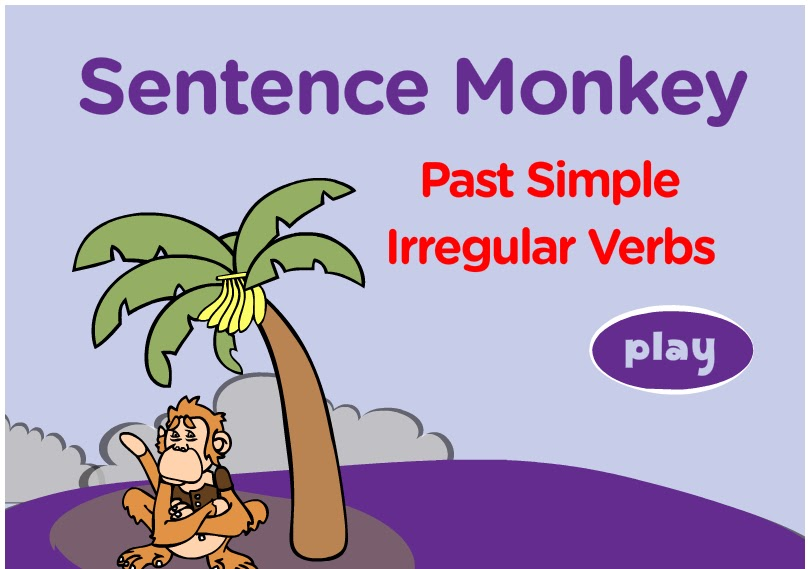 past simple monkey game