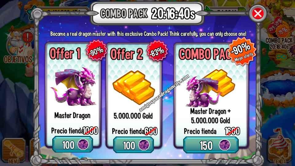 imagen de la oferta del dragon maestro de dragon city ios y android