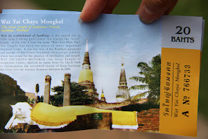 Ticket entry Wat Yai Chaya Mongkol in Ayutthaya