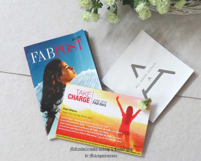 Fab bag june 2015 review, contents, unboxing, price and how to book, Beauty box in India, Monthly beauty box subscription India, Fab bag review, What's in my fab bag, Indian makeup and beauty blog, Indian beauty blogger, Indian makeup blog, Indian makeup blogger, Beauty blogs in India,