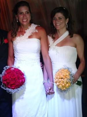 Lili e Larissa se casaram em Fortaleza (CE)