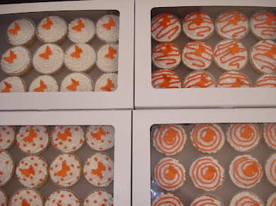 Orange and White Cupcakes
