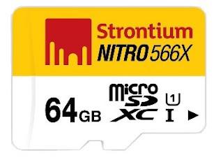 Buy Strontium 64GB Nitro Uhs1 MSD Card at Rs.1063 only