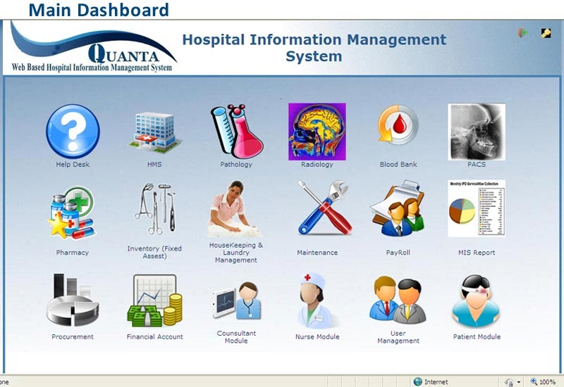 Web Based Hospital Information System Healthcare Software