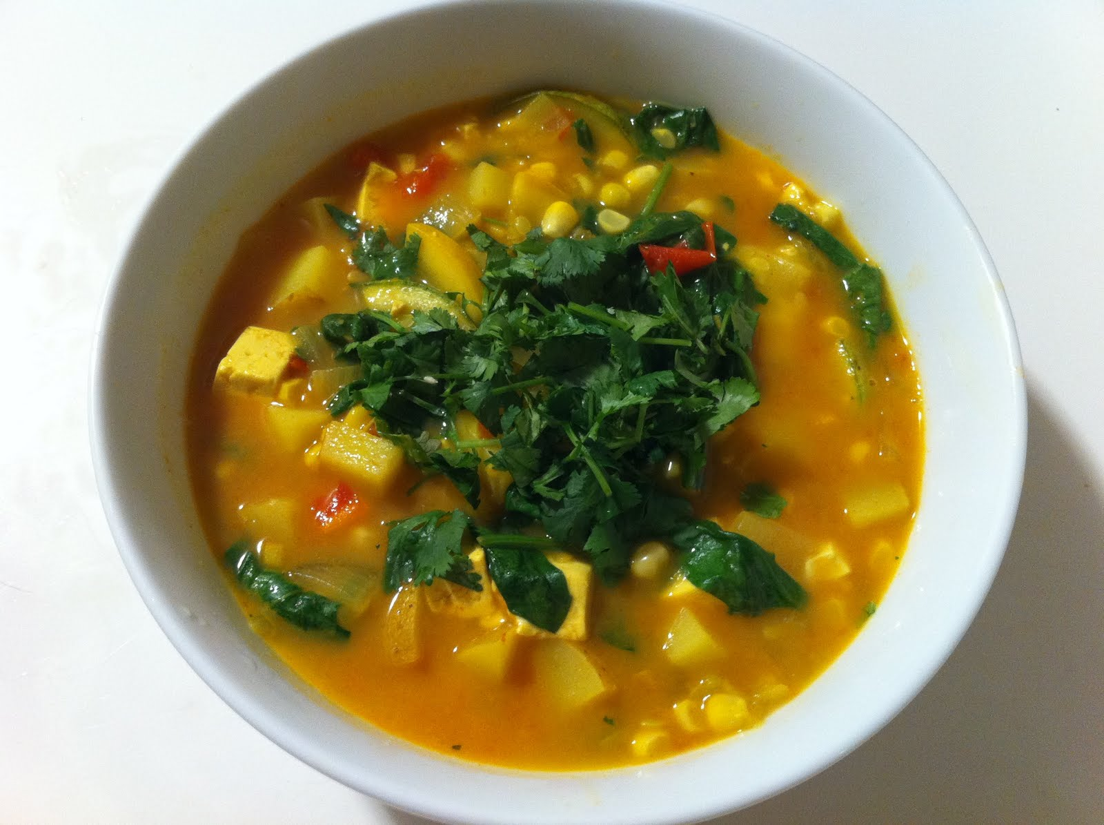 The Sustainable Palate: Summer Vegetable Curry Soup